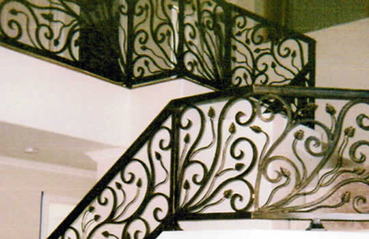Custom Iron Stair Railings