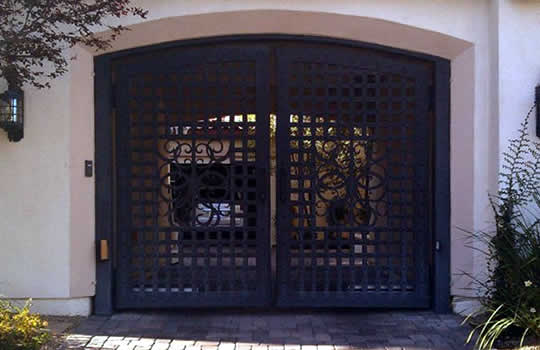 Custom Wrought Iron Entry Gates