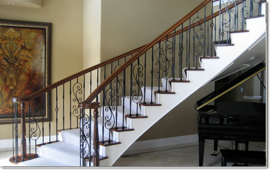 Custom Iron Built Staircase Railings Las Vegas NV