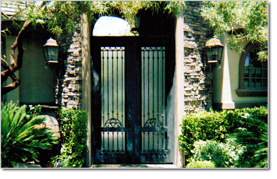 Wrought Iron Entry Way Gates Henderson NV